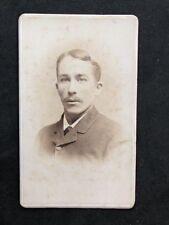 American Victorian Carte De Visite CDV: Gentleman: Hazer: Johnstown NY