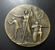 France / Art Nouveau shooting competition medal by Felix Rasumny / M72