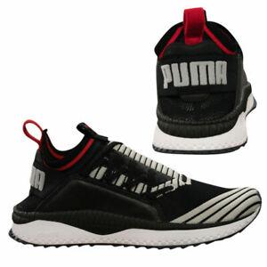 Puma TSUGI Jun Sport Stripes Mens Slip On Black Trainers Low Top 367519 04 B104C