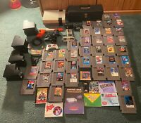 NINTENDO NES CONSOLE HUGE LOT - 40 GAMES - CONTROLLERS - ZAPPER - MANUALS - CASE