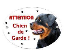 Plaque Attention au chien Rottweiler personnalisée avec votre texte