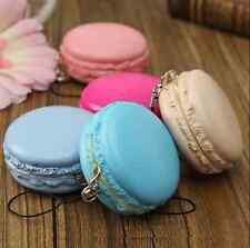 1PC Kawaii Soft Dessert Macaron Squishy Cute Cell phone Charms Key Straps Gift