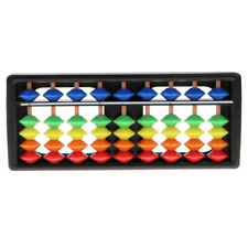 9 Digits 5 Colors Beads Japanese Soroban Arithmetic Abacus Math Learn Toy