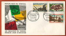 1964 - Sénégal - Enveloppe FDC -1°Jour - Les Industries - Dakar -Yv.237/39/40