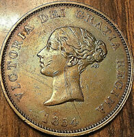 1854 NEW BRUNSWICK VICTORIA ONE PENNY TOKEN - Really nice!