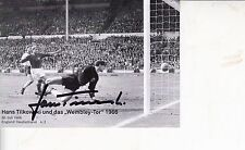 """HANS TILOWSKI WATCHING GEOFF HURSTS 2ND GO """"OVER THE LINE"""" 1966 WORLD CUP"""