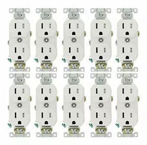 15 Amp Tamper Resistant Duplex Outlet - White
