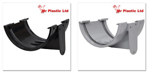 Polypipe 150mm Large Half Round Gutter Union Bracket in Black or Grey RL602