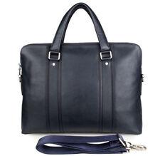 Leather Briefcase Men Handmade Business Satchel Bag 15 Inch Laptop Bag Blue