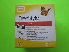 FREE STYLE LITE BLOOD GLUCOSE TEST STRIPS. 100 STRIPS EXP 2019/04, NEW