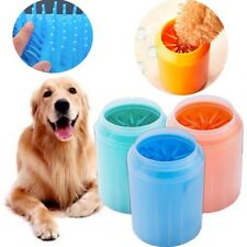New listing Portable Dog Paw Cleaning Cleaner Brush Cup Pet Dog Cat Foot Cleaner Feet Washer