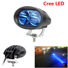 1Pcs Cree LED Blue 20W Universal Motorcycle Car Driving Fog Spot Lamp DRL Light