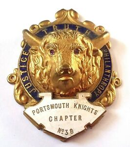 RAOB Royal Antediluvian Order Of Buffaloes - buffalo head - medal/jewel
