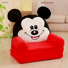 Kids Sofa Cum Bed RED Micky Cartoon Shape Soft Smooth Material Safe Hug gable