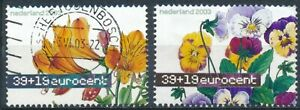 Flower Paintings: 2 Values - Netherlands 2003 - F H