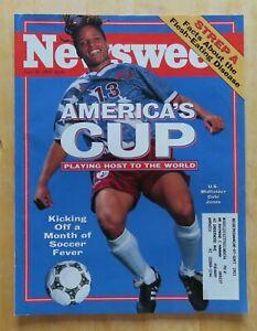 WORLD CUP U.S. Midfielder COBI JONES Newsweek June 20, 1994 Magazine
