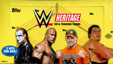 2016 TOPPS WWE HERITAGE WRESTLING HOBBY BOX FACTORY SEALED NEW