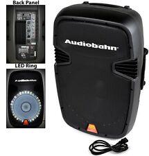 """AUDIOBAHN TORQ 15"""" POWERED 2600W PRO DJ BLUETOOTH USB PA LED MIC SPEAKER"""