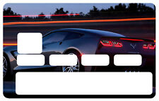 STICKER MUSCLE CAR USA CARTE BANCAIRE CREDIT CARD CB SKIN AUTOCOLLANT CC044