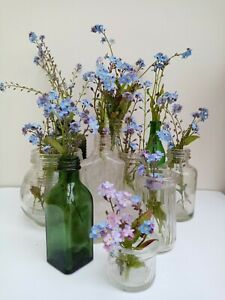 Vintage Wedding Glass Vases Collection x 10
