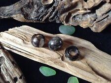 Glass Dreadlock Beads 3 x Smokey 5mm Hole Stunning Piezoelectric Glass Ceramic