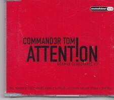 Commander Tom-Attention cd maxi single 8 tracks