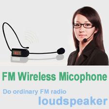 FM Wireless Microphone Headset Megaphone Radio For Loudspeaker/ teaching/tourECL