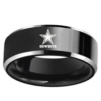 Dallas Cowboys Football Team Stainless Steel Mens Band Ring Collection Size 6-13