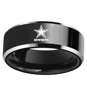 Dallas Cowboys Football Team Stainless Steel Mens Band RingCollection Size 6-13