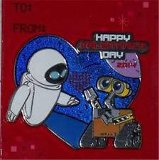 WALL-E AND EVE VALENTINE'S DAY 2014 GLITTER NEW LE 5000 DISNEY PIXAR PIN