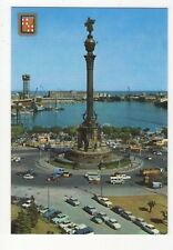 Barcelona Monumento Cristobal Colon Spain Postcard 839b