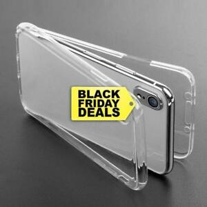 360° Front And Back Slim TPU Clear Gel Cover Case For iPhone X 5 6 7 8 Plus