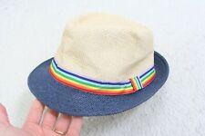 Size 59 Fedora Style Hat Men's Mans Cap Polyester Cotton 65/35 Rainbow Pride