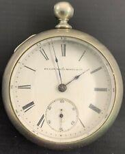 Silver Pocket Watch Antique Elgin Ore