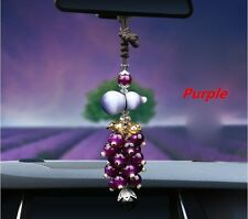 Purple Crystal Car Rear View Mirror Pendant Jewelry Decor Ornament Accessories