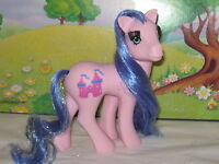 My little pony Vintage G1 ROYAL PINK EYELASH PRINCESS w/ Accessories
