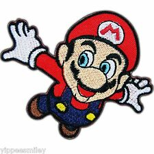 Super Mario Jump Flying Mushroom Cartoon Video Game Kids Iron on Patch #0002