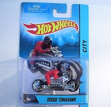 SILVER Dodge Tomahawk. HW CITY Motorcycle and Rider. X2077. New in Blister Pack!