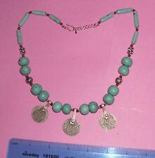 necklace mauritanian Berber Morocco amber Trade Beads green pumice stone wedding
