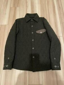 ORIGINAL FAKE Big Logo Jacket Gray x Black Size L Wool Angora Polyester Nylon