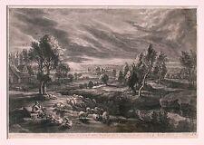 Sir Peter Paul Rubens & Original 17th. Century Landscape Engraving by Bolswert