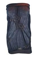 ERMANNO SCERVINO Black Sheer Cotton Blend Tube Dress (32 / 46)
