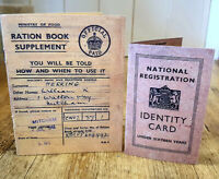 1940s/WW2 Blitz memorabilia Museum quality REPLICA RATION BOOK-ID CARD