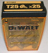 DeWalt Bitbox mit 25 Bits Torx 25 De Walt T25 Bit T25 TX25 DT7962 Kunststoffbox