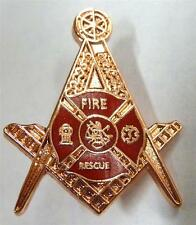FIRE DEPARTMENT Fireman EMT Masonic Freemason Master Tie LAPEL Hat Jacket PIN