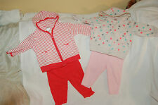 Lot of Carter's Two sets of Jacket Hooded Long Sleeves with Pants Size 6 Months