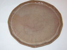 Vietri Forma Round Serving Platter Charger Earth Brown New