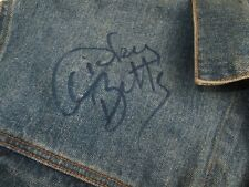 VTG ROLLING STONES JEANS DENIM JACKET SIGNED DICKEY BETTS ALLMAN BROTHERS R@CK !