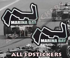 2 x Adesivi Resinati 3D Circuito Marina Bay 6x4 cm