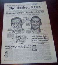 the hockey news vol 11 no.14 January 4 1958 Frank Mahovlich Bobby Baun